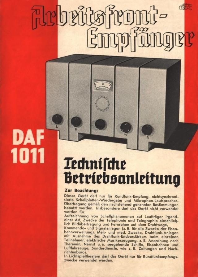 Bedienungsanleitung DAF 1011 Seite 1