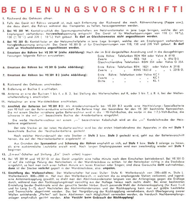 Bedienungsanleitung VE 301 Seite 3