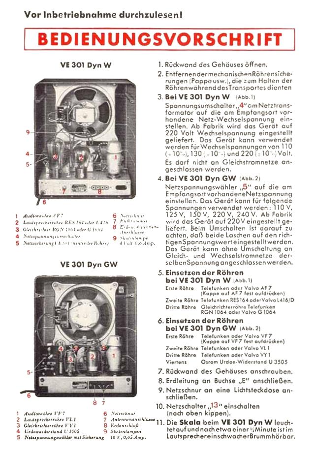 Bedienungsanleitung VE 301 Dyn Seite 2