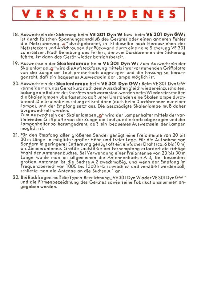 Bedienungsanleitung VE 301 Dyn Seite 4