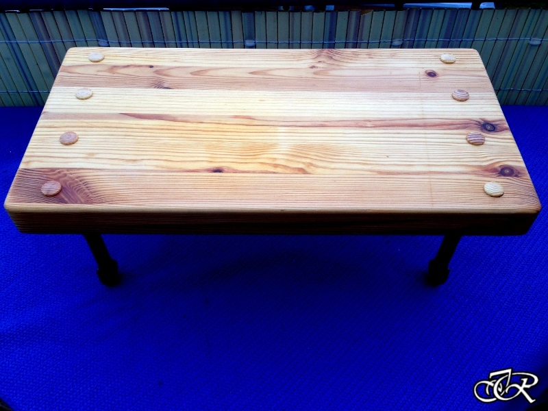 Blumenbank Holz + Stahl