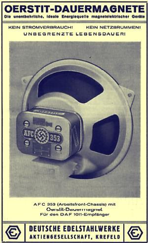 Werbung AFC 353 - DAF 1011 Lautsprecher