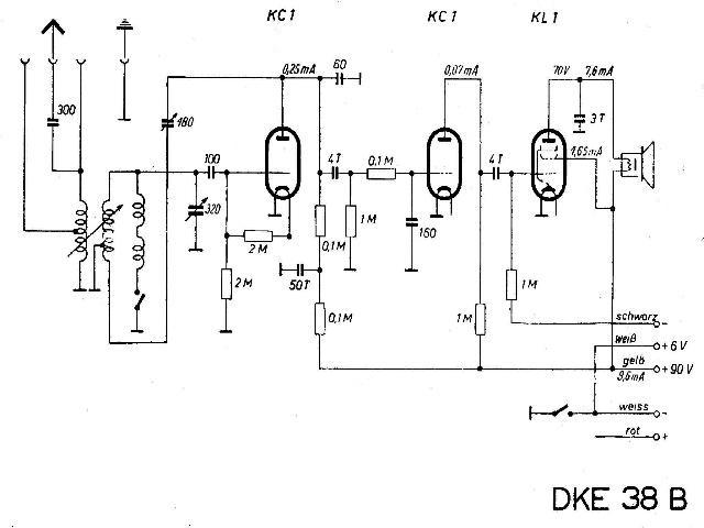 Schaltbild DKE 38 B