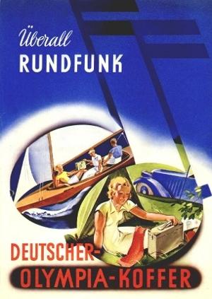 Werbung DO36 Deutscher Olympiakoffer Empfänger 36