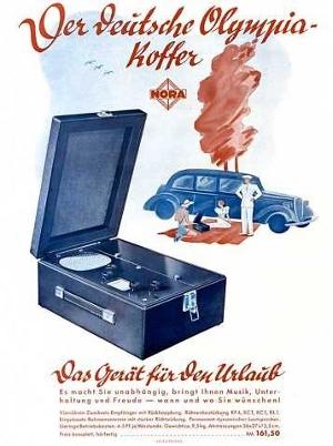 Werbung DO37 - Deutscher Olympiakoffer Empfänger 37