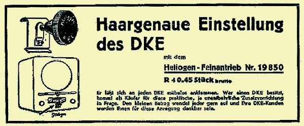 Werbung DKE Feinantrieb von HELIOGEN