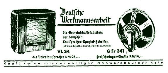 Werbung für VL 34 und G. Fr. 341