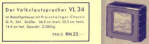 Werbung für VL34