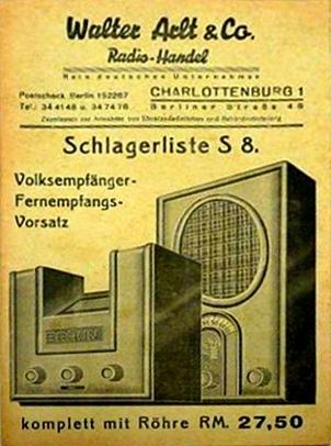 VE Werbung auf Radio Katalog